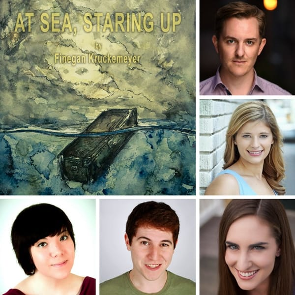 At Sea cast members: (top to bottom) Nick Duckworth, Elizabeth Floyd, Elise Debelstein, Adrian Iglesias and (far left) Elizabeth Ung)