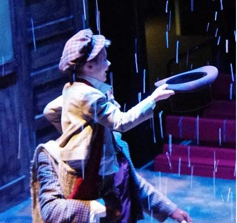 Ryan MacDonald as Tiny Tim in A Christmas Carol at Chesapeake Shakespeare (Photo courtesy of Chesapeake Shakespeare)