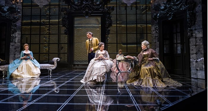 The cast of Les Liaisons Dangereuses at Center Stage (Photo: Richard Anderson)