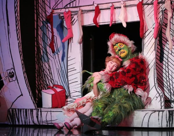 Santa Grinch and Cindy Lou: Dr. Seuss' How the Grinch Stole Christmas! The Musical 2014 tour company, playing National Theatre December 13 - 31, 2016