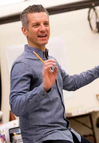 Titanic's Musical Director James Moore in rehearsalsat Signature Theatre. (Photo: Christopher Mueller)
