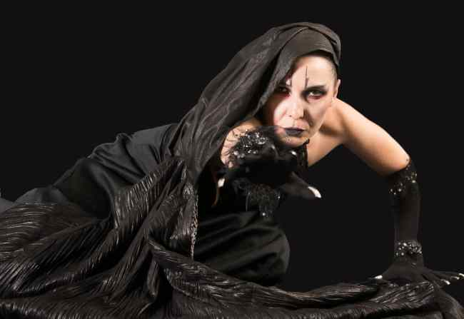 Irina Tsikurishvili as the Witch in Sleeping Beauty at Synetic Theater