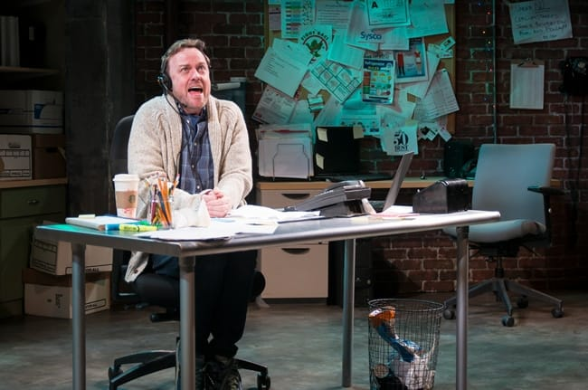 Tom Story in Fully Committed at MetroStage (Photo: Chris Banks)