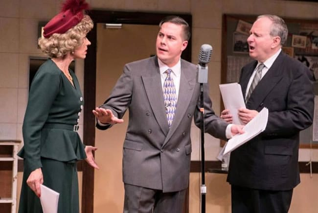 (l-r) Julie-Ann Elliott, Joe Brack and Vincent Clark in It's a Wonderful Life at Washington Stage Guild. (Photo: C. Stanley Photography)