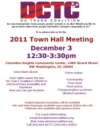 hall town meeting trans announce lunch announcing