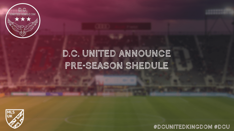 D.C. United Announce 2020 Preseason Schedule