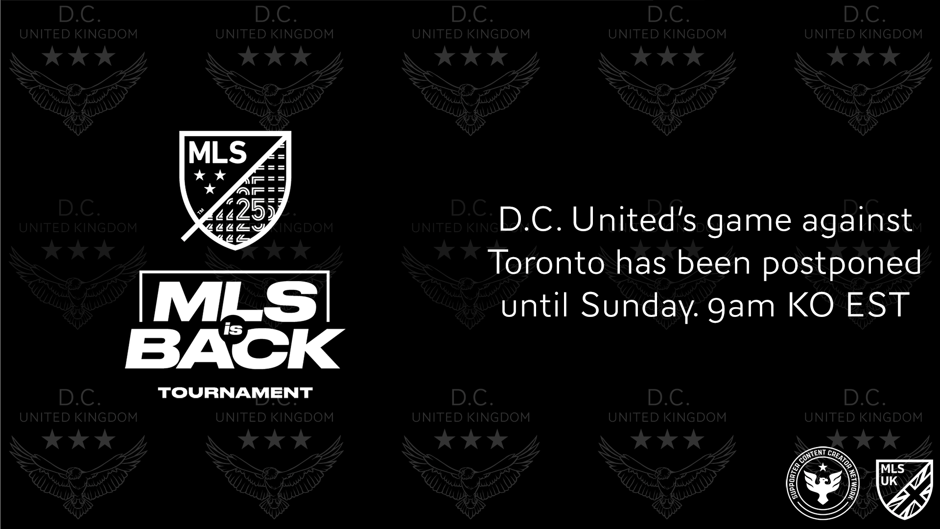 DCU vs Toronto postponed