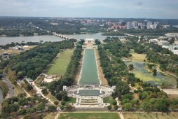 View of the National Mall from the Washington Monument.