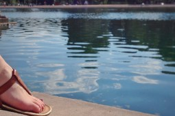 Sitting by the Capitol Reflecting Pool
