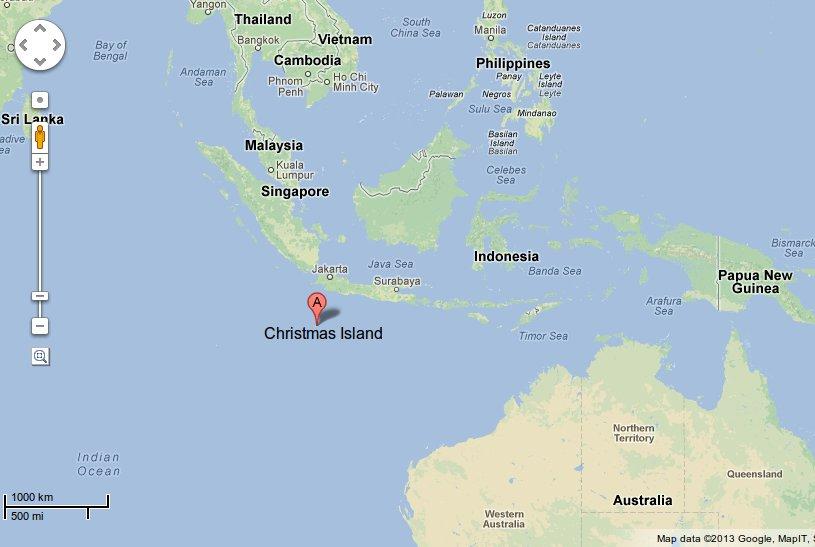 Đảo Giáng Sinh. Nguồn: Google Maps