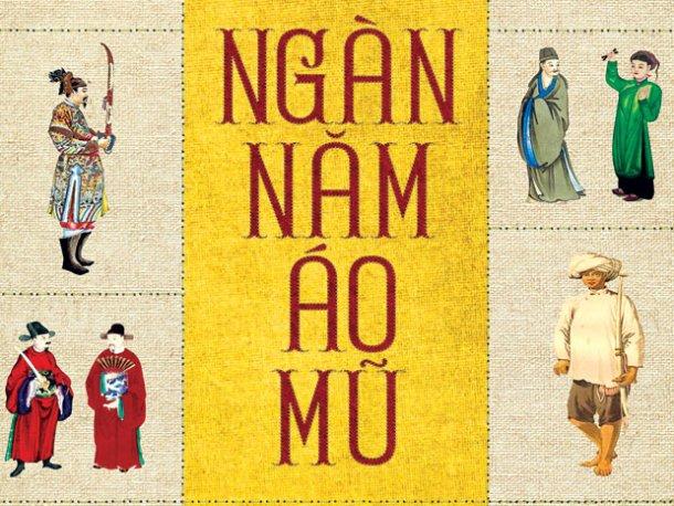 Một phần bìa cuốn Ngàn Năm Áo Mũ của Trần Quang Đức.