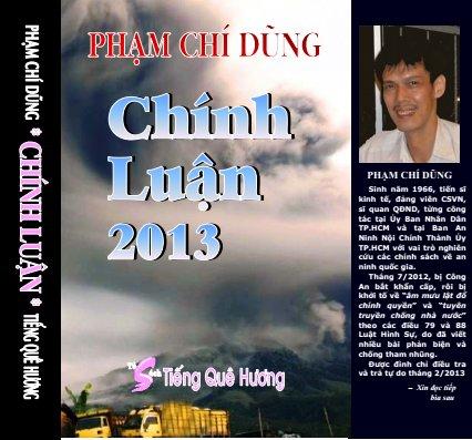 Bìa Chính Luận 2013. Nguồn: Tủ sách Tiếng Quê Hương.
