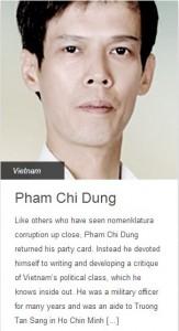 """Phạm Chí Dũng trên trang mạng """"100 information heroes"""". Nguồn: rsf.org"""