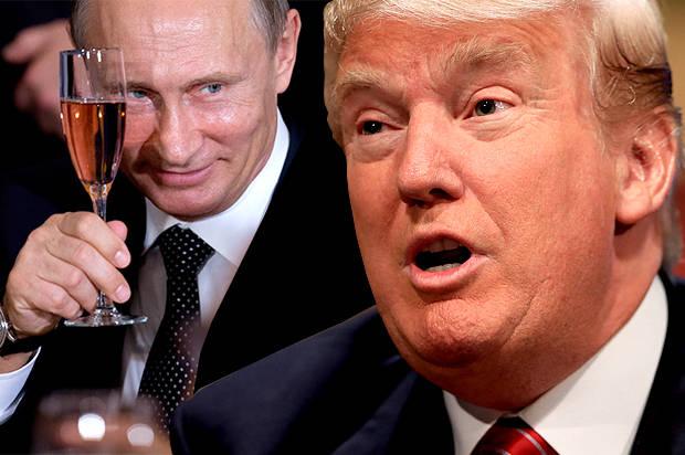 Vladimir Putin, Donald Trump (Credit: AP/Andrew Harnik/Nati Harnik/