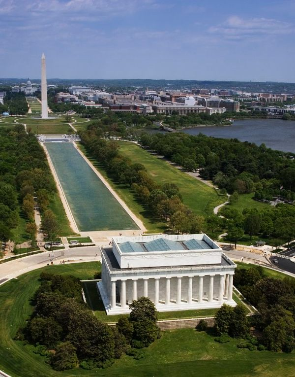 Aerial View Of National Mall Dc Walkabout