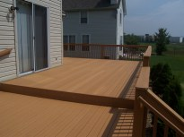 home improvement rear deck closeup