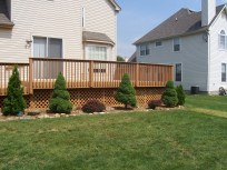 home improvement rear deck landscaping