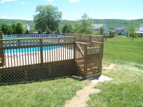 home improvement pool deck stairs