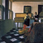The Music Lesson by Johannes Vermeer c. 1662-1664 - Oil on canvas 73.3 x 64.5 cm. (28 7/8 x 25 3/8 in.) The Royal Collection, The Windsor Castle
