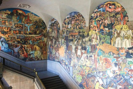 national palace diego rivera mural mexico city