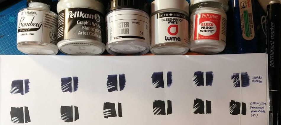 White paints & ink test!