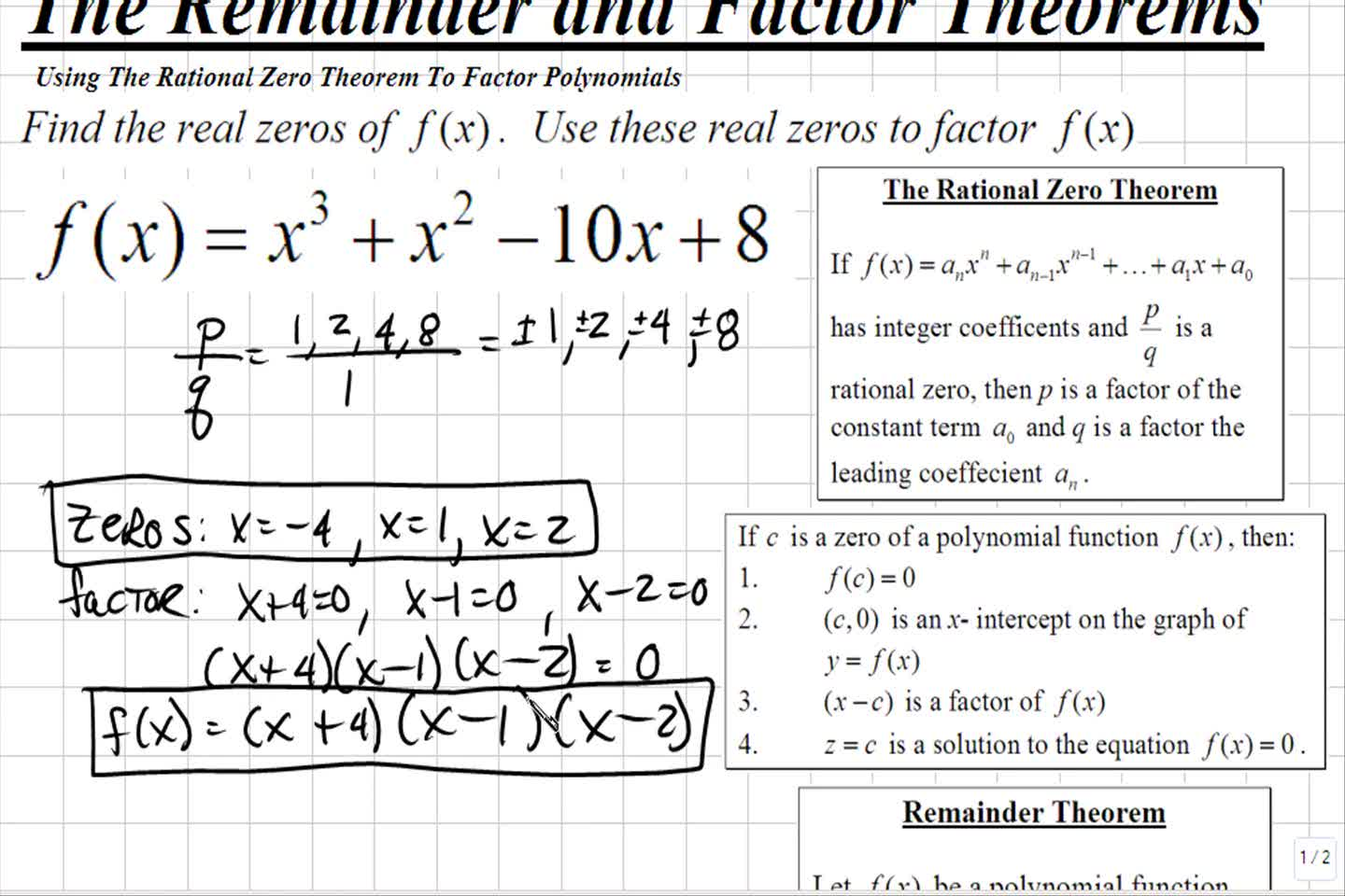 Howto How To Factor A Polynomial Function