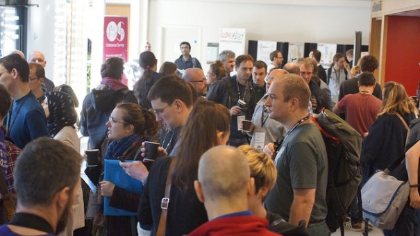 "First Open Data Camp attracted enthusiasts across the country to Winchester. Huge gathering Image by <a href=""https://www.flickr.com/photos/sashataylor/with/15987877744/"">Sasha Taylor</a> via Flickr."