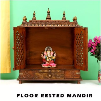 Floor Rested Wooden Temples