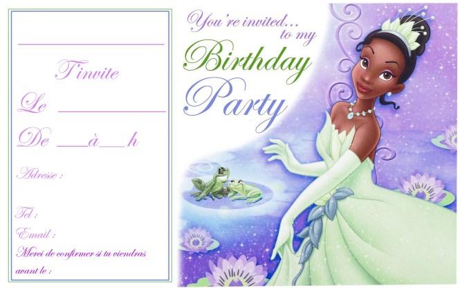 Free Printable Princess Tiana Birthday Invitations Wedding – Princess Tiana Birthday Invitations
