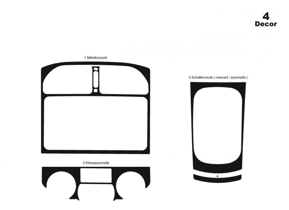 Toyota Rav 4 2001-2006 Накладки на панель купить по лучшей