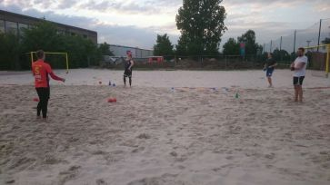 Beachhandball Trainingsauftakt für die Beachhandball Saison 2018