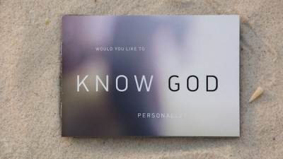 """Know God Personally"" booklet"
