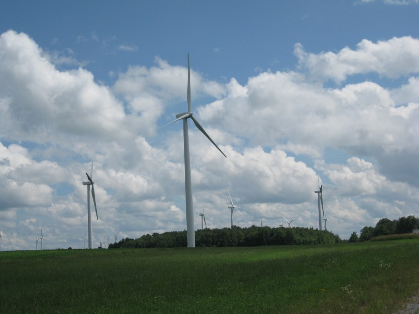 Wind farm in New York State.