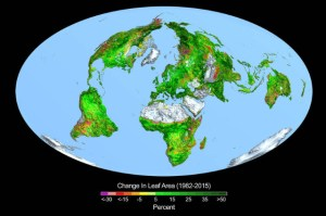 Greening of Earth from NASA