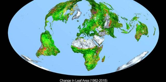Greening of Earth from NASA