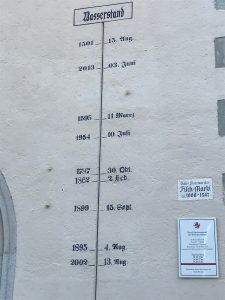 Record of Flooding Danube