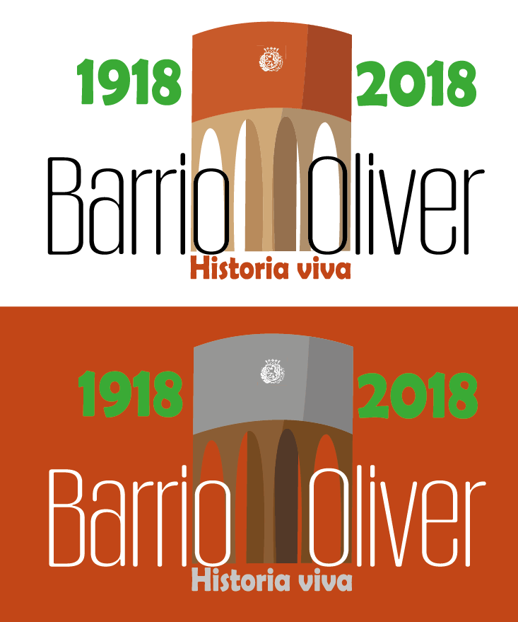 Logo Centenario Barrio Oliver Zaragoza