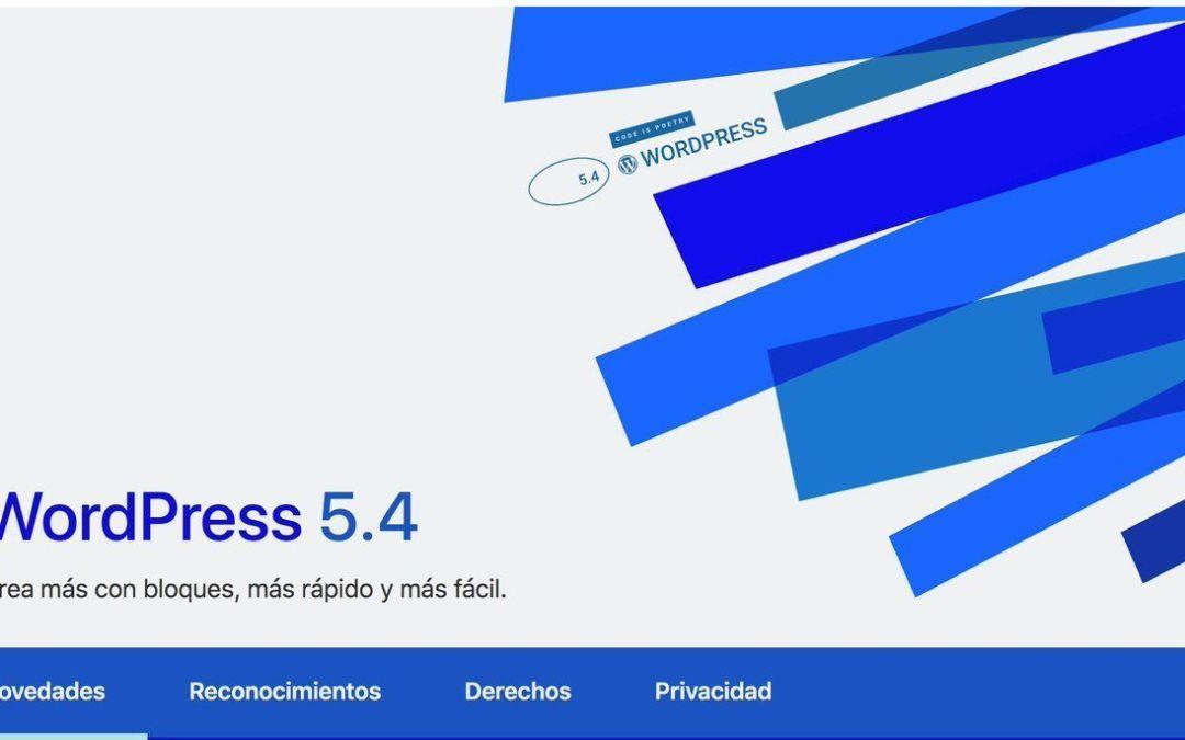 "Actualiza a WordPress 5.4 ""Adderley"""