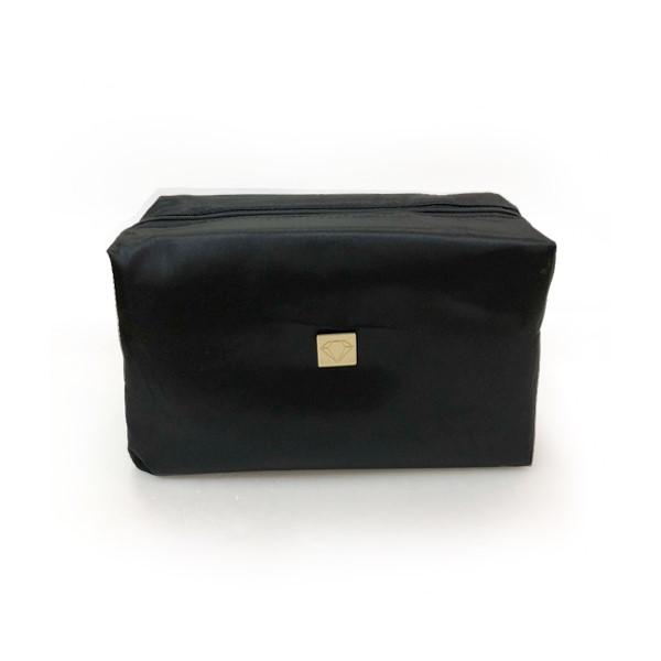 cosmetic bag, kosmeetika, kott, must, satiin, ilutoode, mahukas