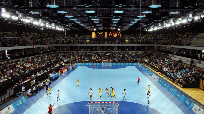 wheelchair volleyball table and chair rentals prices copper box handball arena in pictures | olympic venues london olympics ...