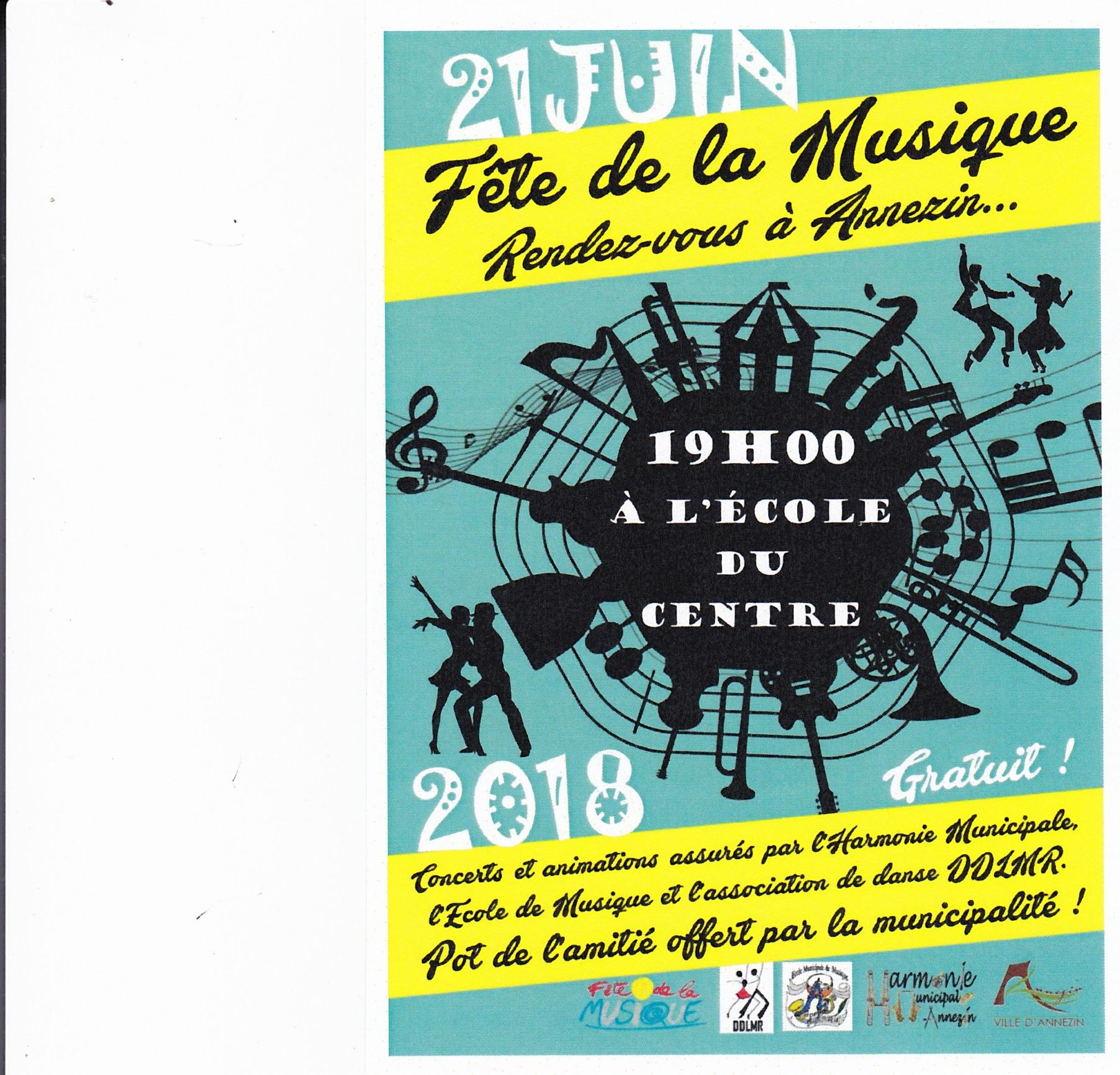 Invitation Fete De La Musique 21 Juin 2018