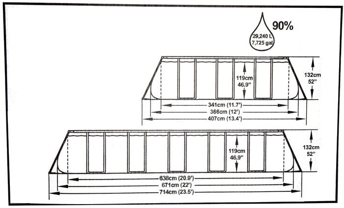 BEstway Steel Frame Above Ground Swimming Pool 22ft 6.7m