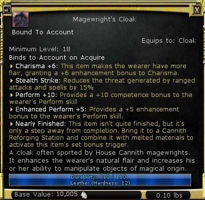 Magwright's cloak