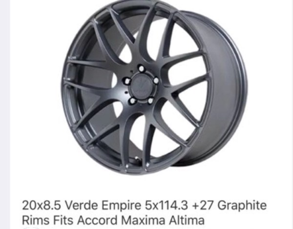 Verde Rims without tire