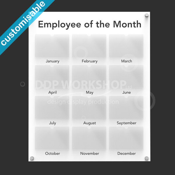 Employee of the Month Board Small  Staff Photo boards for