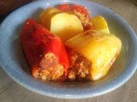 gefüllte paprikaschoten paprika mit hackfleisch gefüllt von oma ddr rezept
