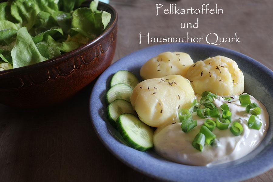 Pellkartoffeln mit Quark Omas DDR Rezept