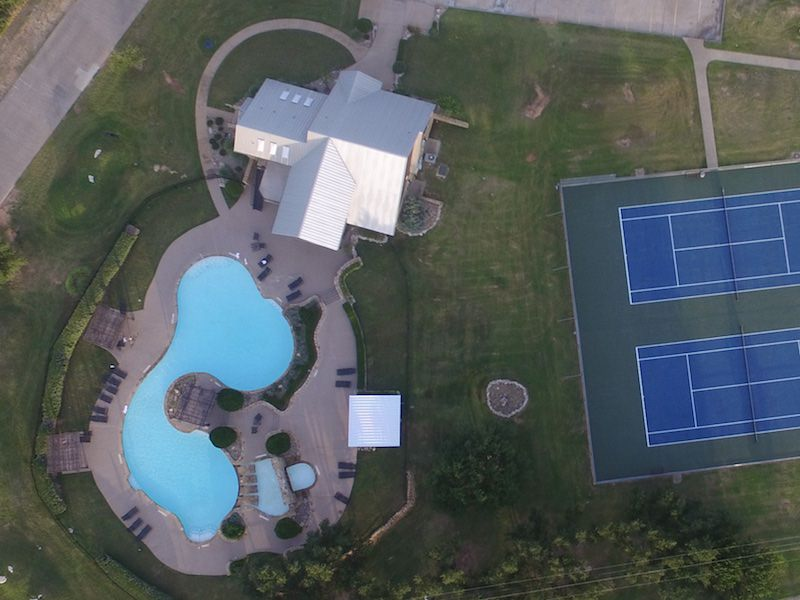 Aerial photo of the Club Pool