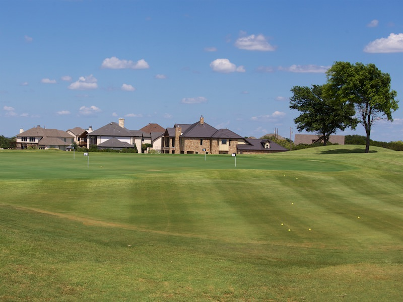 Photo of the golf practice facility