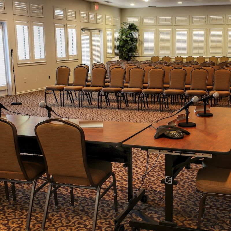 photo of conference center chairs